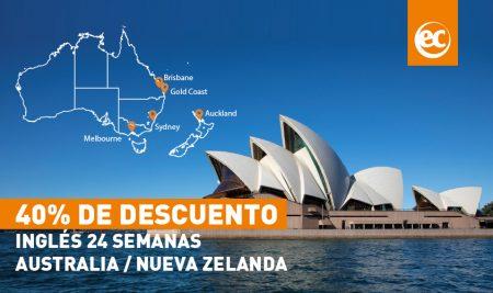 Ahorra hasta un 40% en cursos de inglés de 24 semanas en Australia o Nueva Zelanda